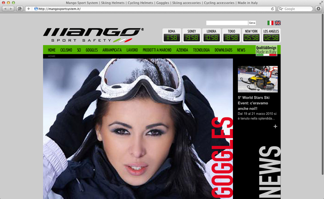 home page Mango sport system