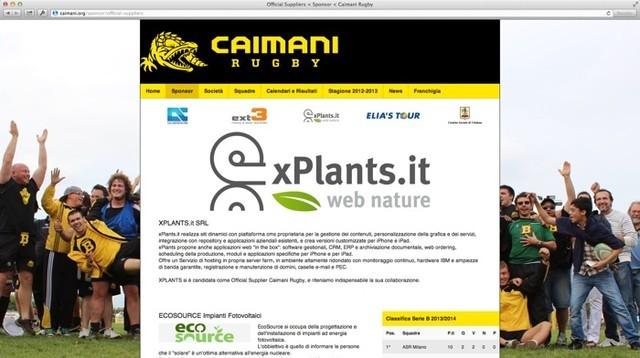 xPlants e' sponsor dei Caimani: nuovo sito!