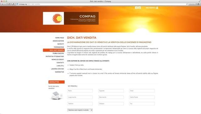 Dichiarazione dei dati di vendita dei prodotti fitosanitari
