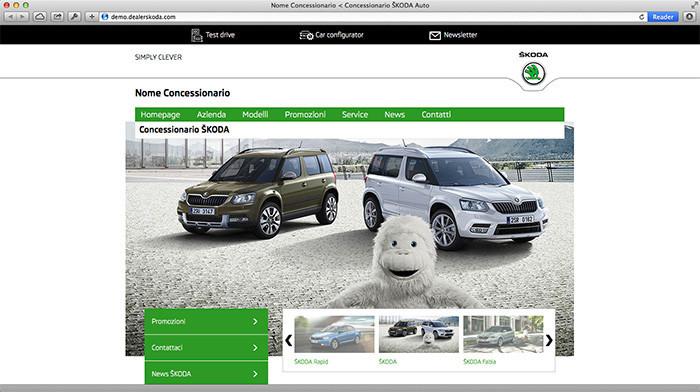 Home Page del Concessionario