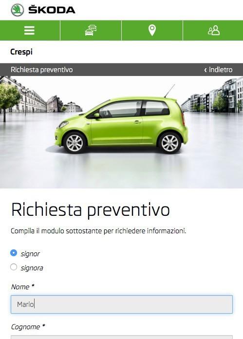 richiesta di preventivo tramite App