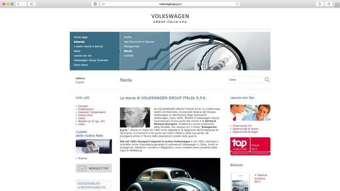 Sito Volkswagengroup Italia
