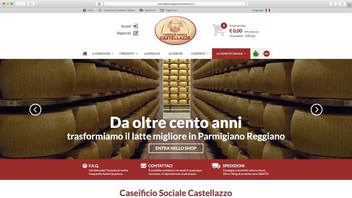 Caseificio Castellazzo - vendita online parmigiano reggiano