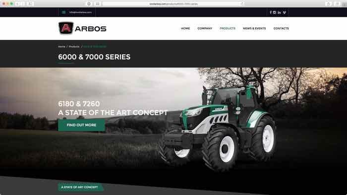 i nuovi trattori Arbos 6180 e 7260