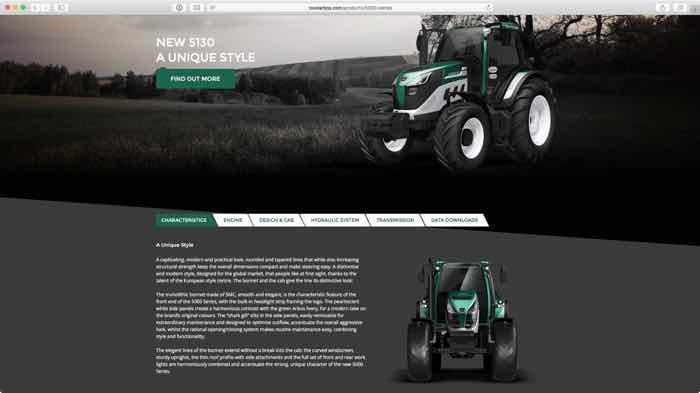 dettagli del nuovo trattore Arbos 5130