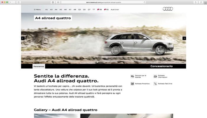 i modelli della Gamma Audi