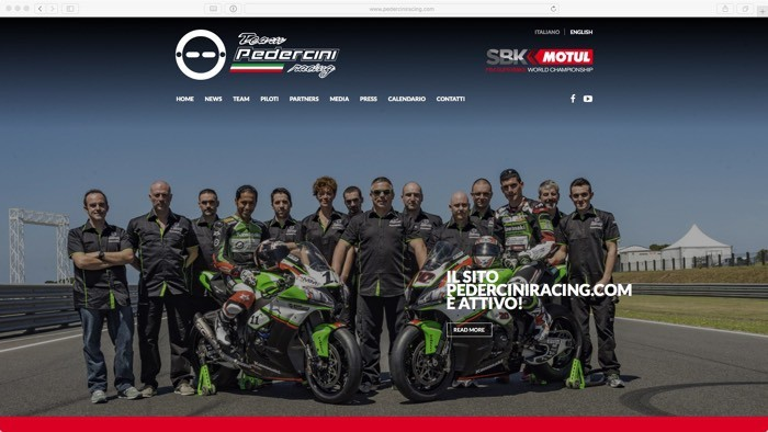 nuovo sito per il Team Pedercini Racing