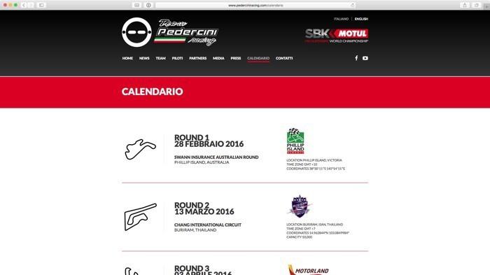 il calendario delle gare