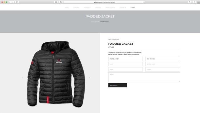 il prossimo shop online, attualmente disponibile per gli ordini