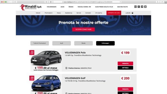 prenota online la tua automobile