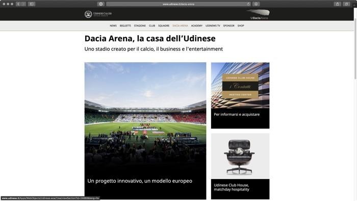 lo stadio Dacia Arena