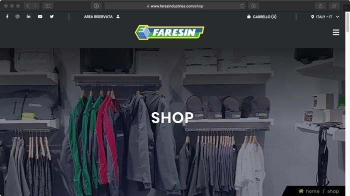 gadget nello shop online di Faresin