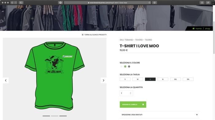 la maglietta Moo