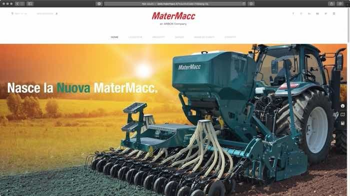 nuovo sito web Matermacc - macchine agricole