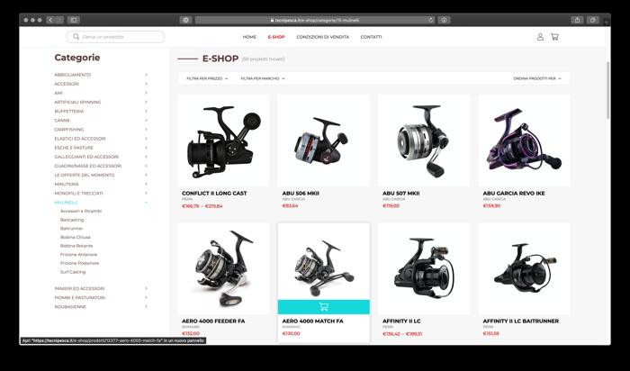 catalogo e-commerce, i mulinelli