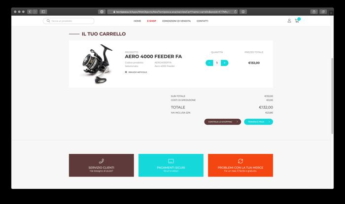 carrello e pagamento online