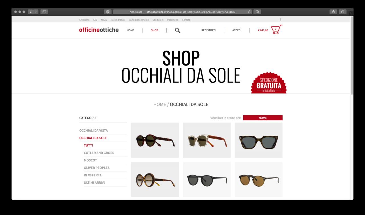 Occhaili da vista e da sole in vendita online
