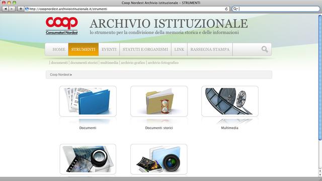 Documenti, immagini, video, loghi istituzionali...