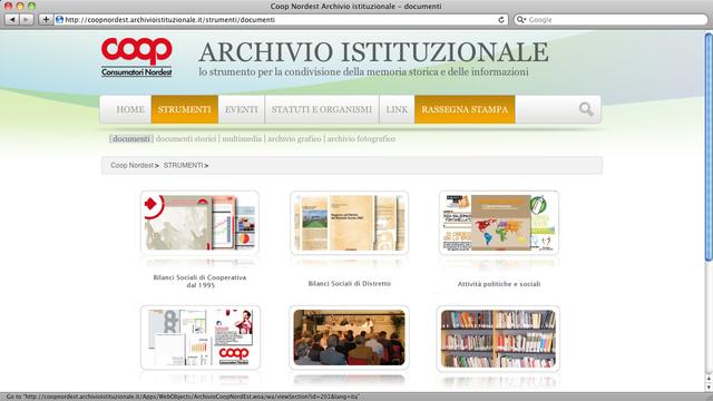 Archivio documentale della Direzione Soci