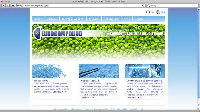 Eurocompound ha chiesto a xPlants.it di fare anche il sito web, oltre al gestionale...