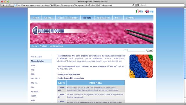 Eurocompound produce compound e masterbatches per stampaggio e estrusione...