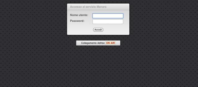 accesso al Web Ordering